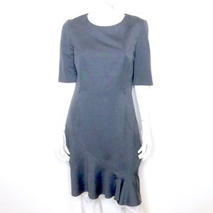 Ted Baker   Gray asymmetrical midi dress FLAWS
